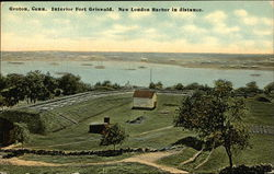 Interior Fort Griswold, New London Harbor in Distance