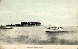 Small boat on water, Guilford Point