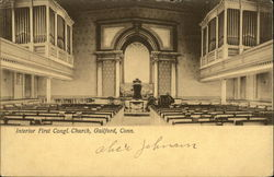 Interior of the First Congregational Church
