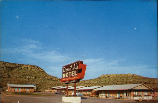 Desert Air Motel Sanderson Tx Postcard