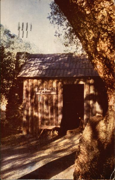 Mark Twain's Cabin, Mother Lode Country Tuttletown California