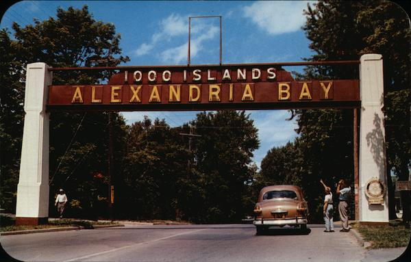 Entrance to Town Alexandria Bay New York