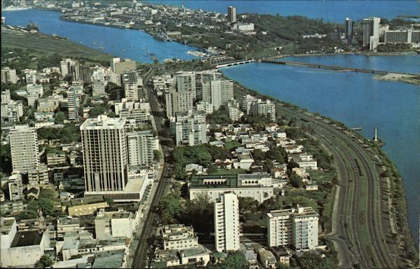 Aerial View of City San Juan Puerto Rico