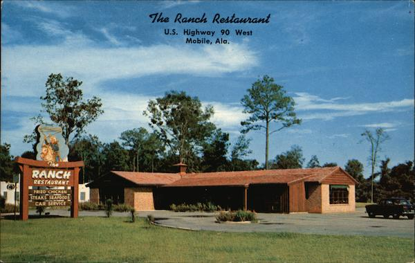 The Ranch Restaurant, U.S. Highway 90 Mobile Alabama
