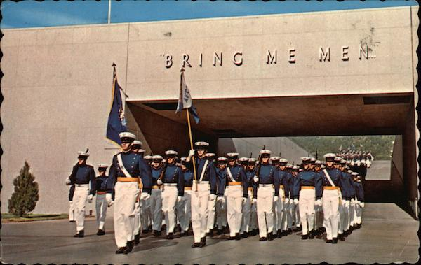 Bring Me Men. Marching Cadets at the U.S. Air Force Academy, Colorado.