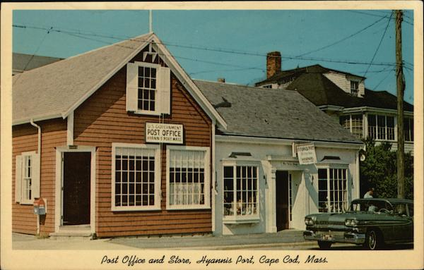 Post Office and Store at Hyannis Port Cape Cod Massachusetts