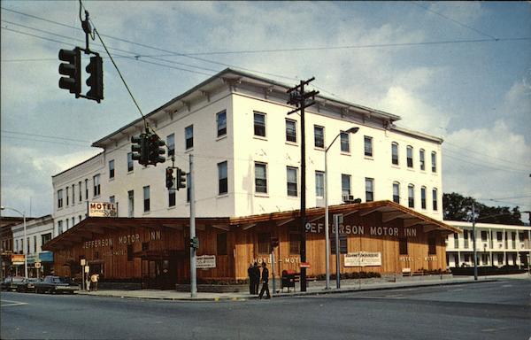 the jefferson hotel and motel watkins glen ny postcard. Black Bedroom Furniture Sets. Home Design Ideas