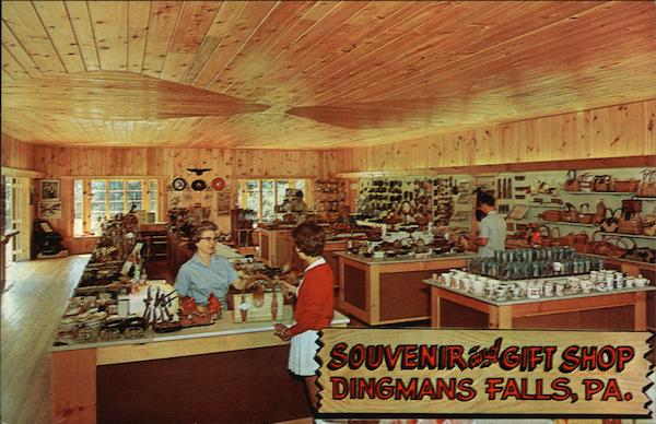 Souvenir and Gift Shop, Dingmans Falls, Pa. Pennsylvania