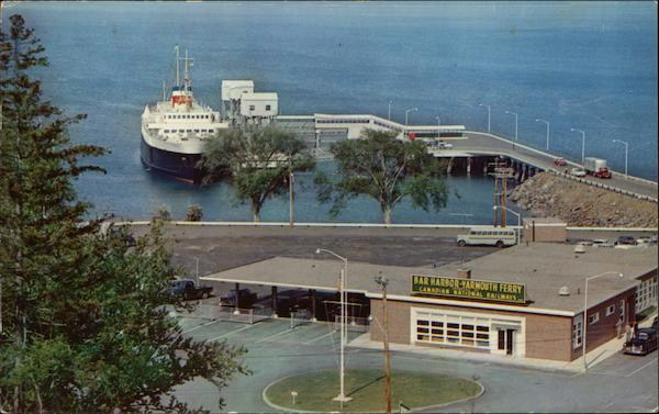 Bar Harbor Ferry Terminal, MV Bluenose at Dock Maine