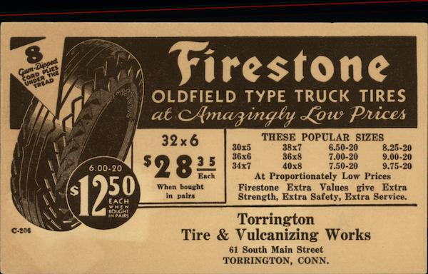 Firestone Oldfield Type Truck Tires Advertising