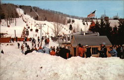 Snow And Skiers At Bromley Mountain