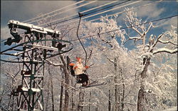 Skier on Chairlift, Mt. Sunapee State Park