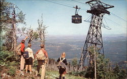 Tram Cars & Hikers. Cannon Mountain Aerial Tramway.