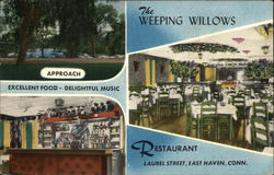 The Weeping Willows Restaurant Postcard