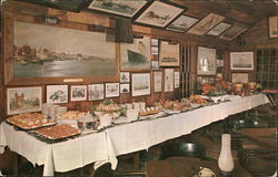 Buffet Served in Covered Bridge Room, Griswold Inn