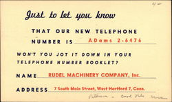 Rudel Machinery Company, Inc.