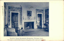 Ellsworth Homestead - Drawing Room Postcard