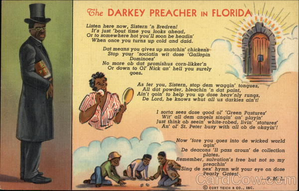 The Darkey Preacher in Florida Black Americana
