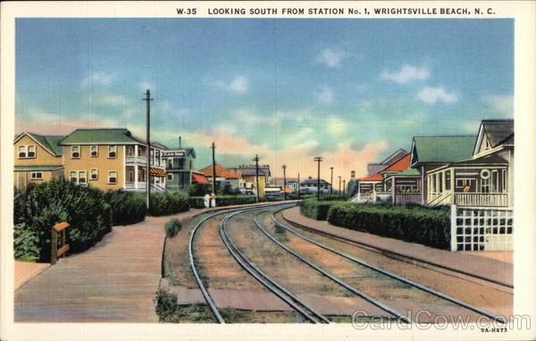 Looking South from Station No.1, Wrightsville Beach Wilmington North Carolina