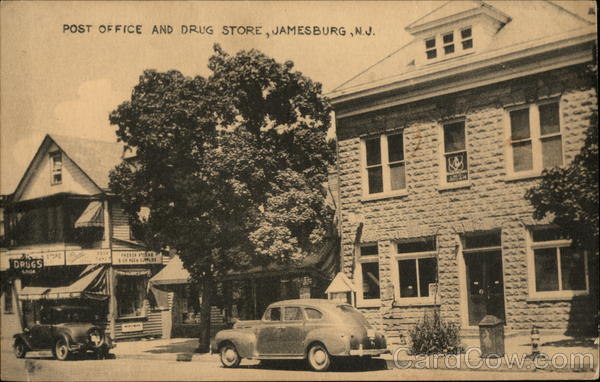Post Office and Drug Store Jamesburg New Jersey