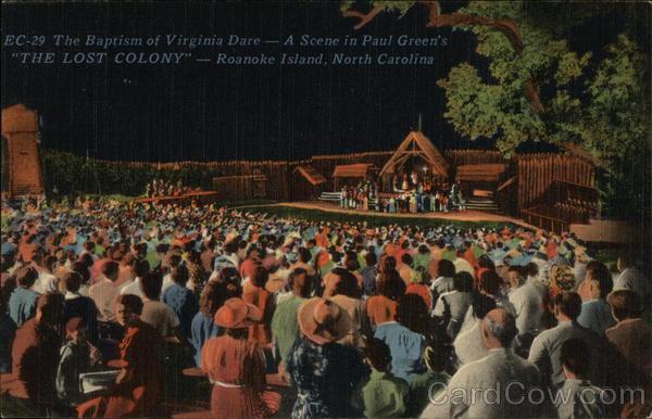 The Baptism of Virginia Dare - Paul Green's The Lost Colony Nags Head North Carolina