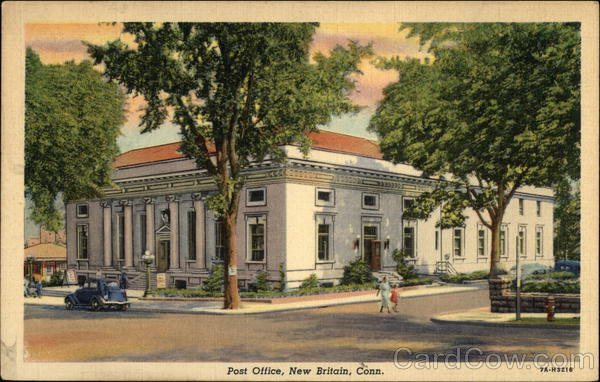Street View of Post Office New Britain Connecticut