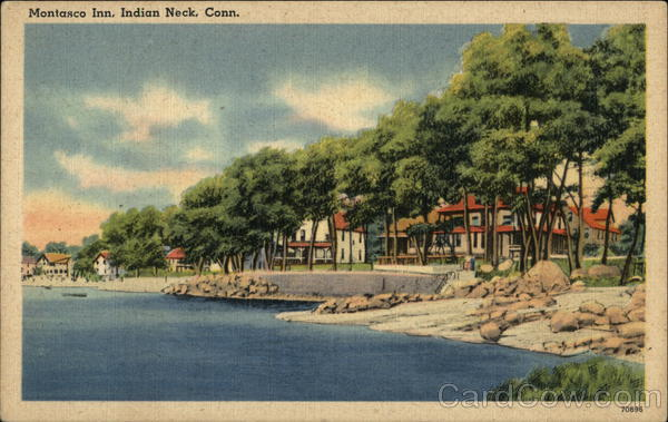 Water View of Montasco Inn Indian Neck Connecticut