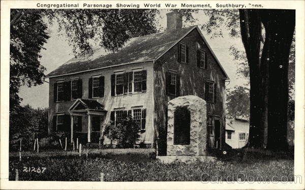 Congregational Parsonage Showing World War Patronage Southbury Connecticut