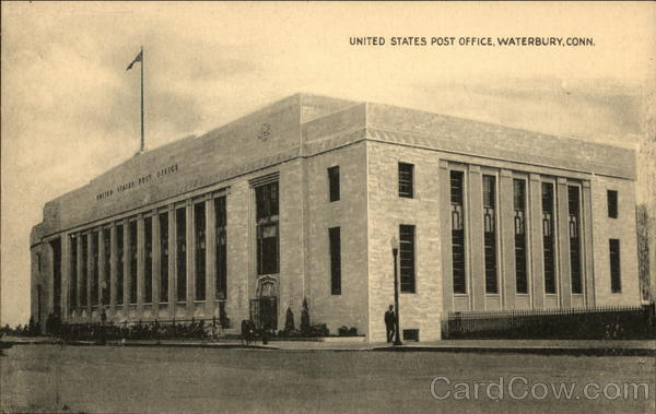 Street View of United States Post Office Waterbury Connecticut