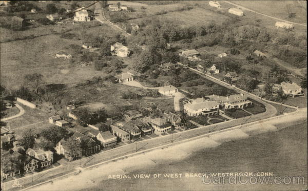 Aerial View of West Beach Westbrook Connecticut
