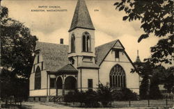 Street View of Baptist Church Postcard