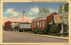 Bel Air Avenue showing US Post Office Postcard
