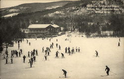Recreation Building and Skiiers, Belknap Mts., Recreation Area