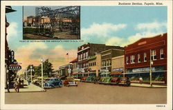 Business Section Tupelo, MS Postcard