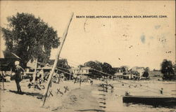 Beach Scene, Hotchkiss Grove, Indian Neck