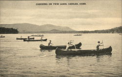 Canoeing on Twin Lakes Postcard