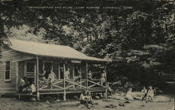 Headquarters and Store at Camp Mohawk Postcard