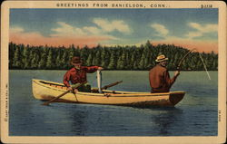 Men Fishing on Lake