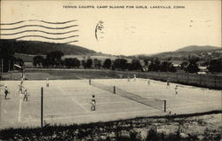 Tennis Courts, Camp Sloane for Girls