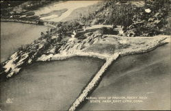 Aerial View of Pavilion, Rocky Neck State Park