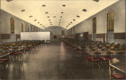 Main Dining Room, Veterans Home and Hospital Postcard