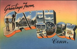 Greetings from Savin Rock, Connecticut Postcard