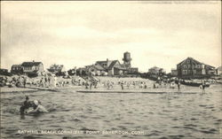 Bathing Beach at Cornfield Point Postcard