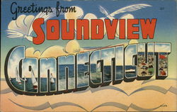 Greetings from Soundview, Connecticut Postcard