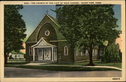 The Church of Our Lady of Good Counsel Postcard