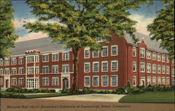 Holcomb Hall (Girls' Dormitory) at University of Connecticut