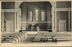Interior of Congregational Church