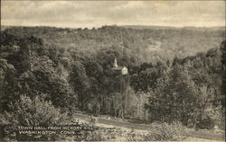 View of Town Hall from Hickory HIll Postcard