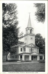 Street View of Congregational Church Postcard
