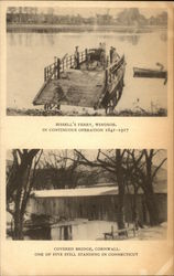 Bissell's Ferry & Covered Bridge Postcard